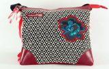 Sac Macha en cuir et coton rouge 3 compartiments Spring 271332