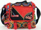 Sac Macha ethnique tons rouge à bandoulière Malino 271477