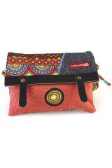 Sac-pochette Macha pour Femme Ethnique et Original Tasami rouge 287952