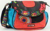 Sac pour Femme Macha à bandoulière Ethnique et Coloré Tayama Rouge 277246
