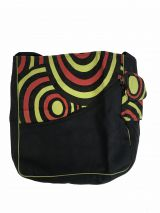 Sac rectangulaire noir, vert et rouge à spiral Begonie 302329