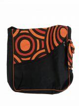 Sac rectangulaire noir et orange en coton Tynie