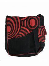 Sac rectangulaire noir et rouge original Mappy