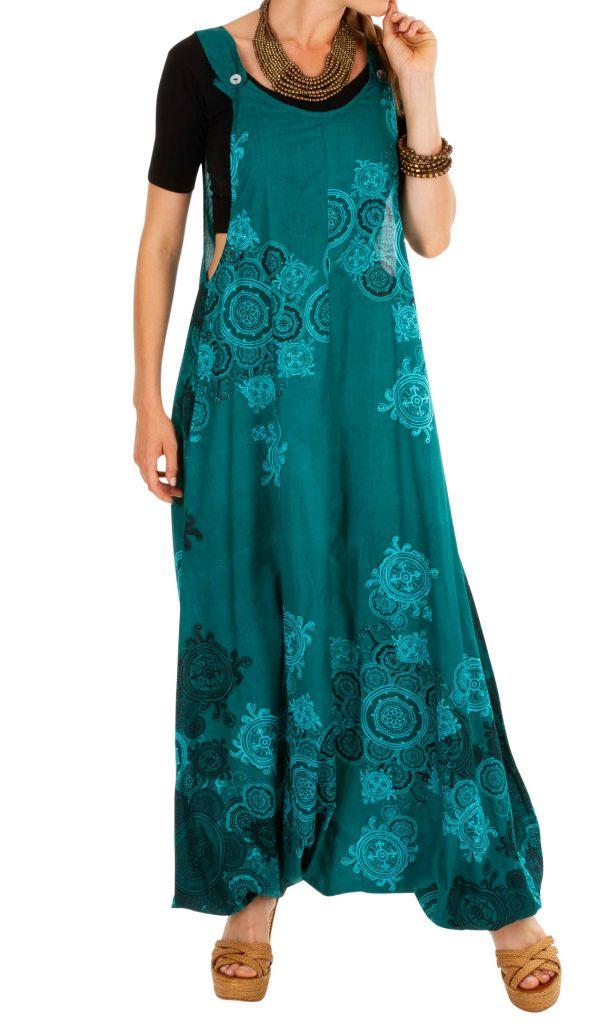 Salopette combi-sarouel imprimée en coton très originale Marwa 306547