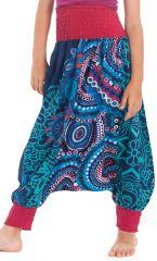 Sarouel 2en1 pour Enfant Original et Coloré Girafe Turquoise 280274