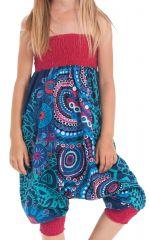 Sarouel 2en1 pour Enfant Original et Coloré Girafe Turquoise 280275