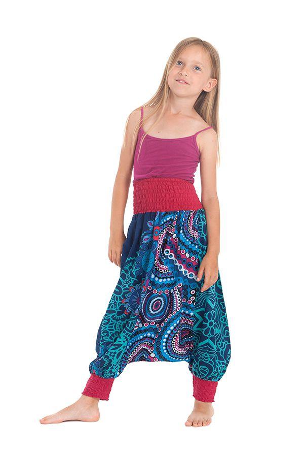 Sarouel 2en1 pour Enfant Original et Coloré Girafe Turquoise 280276