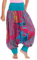 Sarouel 2en1 Rose et Bleu pour Enfant Original et Coloré Girafe 280278