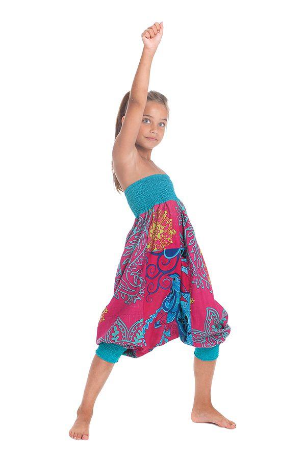 Sarouel 2en1 Rose et Bleu pour Enfant Original et Coloré Girafe 280281