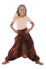 Sarouel 3en1 ethnique et imprimé pourvu d'un smocks Dalia 294713