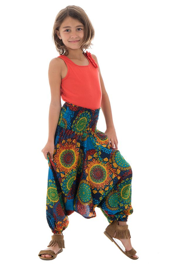 Sarouel 3en1 imprimés fantaisies multicolores Dalia 294656