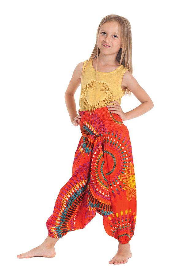 Sarouel 3en1 pour Enfant Ethnique et Coloré Mandy Orange 279938