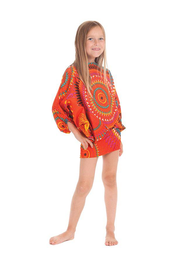 Sarouel 3en1 pour Enfant Ethnique et Coloré Mandy Orange 279939