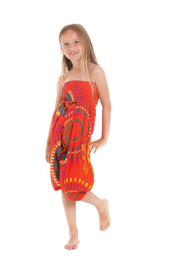 Sarouel 3en1 pour Enfant Ethnique et Coloré Mandy Orange 279940