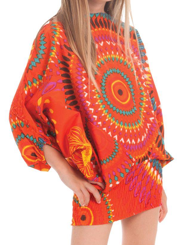 Sarouel 3en1 pour Enfant Ethnique et Coloré Mandy Orange 279941