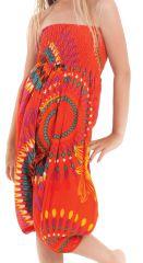 Sarouel 3en1 pour Enfant Ethnique et Coloré Mandy Orange 279942