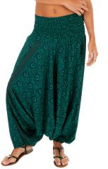 Sarouel 3en1 pour femme de couleur turquoise Mélanie 311397