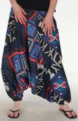 Sarouel 3en1 pour Femme Ethnique et Baba Cool Damien Noir 285243