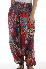 Sarouel 3en1 pour femme Ethnique et Coloré type Patchwork Pablo 297885