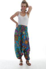 Sarouel 3en1 pour femme Originale Gai et Coloré Eliska Turquoise 297785