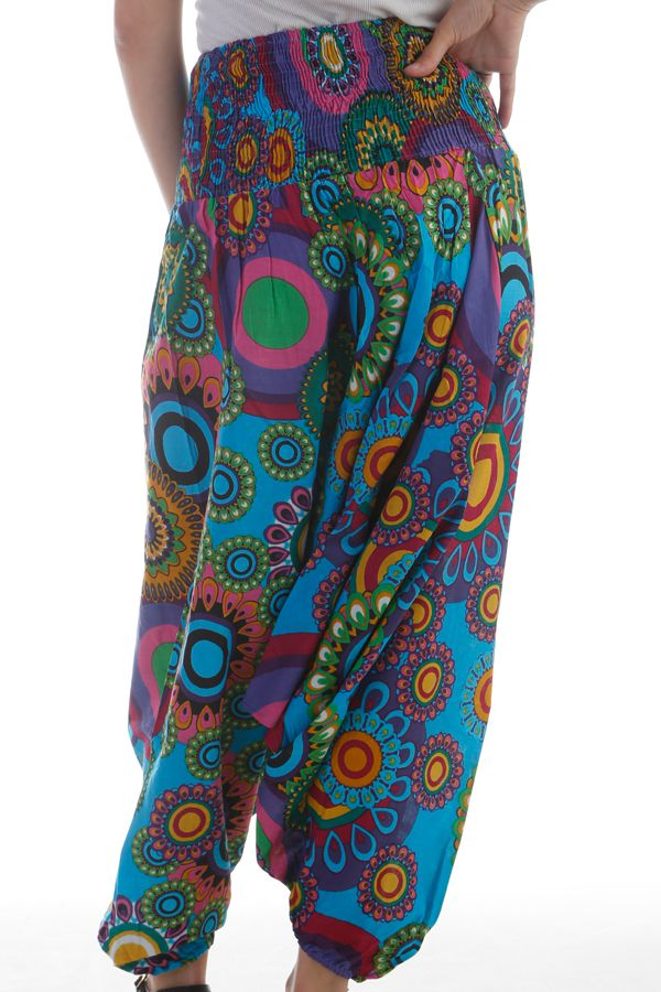 Sarouel 3en1 pour femme Originale Gai et Coloré Eliska Turquoise 297790