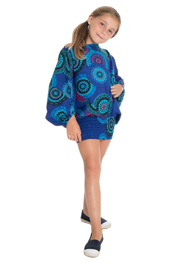 Sarouel 3en1 style seventies pourvu d'un smocks Dalia 294745