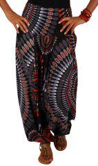 Sarouel à large ceinture élastiquée, coloré en coton Saroual 311367