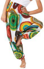 Sarouel Blanc 3en1 pour Enfant Ethnique et Coloré Mandy 279962