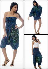 Sarouel Bleu pour femme 3en1 Original et Imprimé Malaya 283917