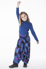Sarouel Bleu pour Fille 3en1 Ethnique et Original Ewen 286202