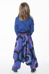 Sarouel Bleu pour Fille 3en1 Ethnique et Original Ewen 286204
