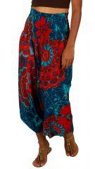 Sarouel convertible motif floral aux couleurs exotiques Fidgie 306249