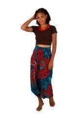 Sarouel convertible motif floral aux couleurs exotiques Fidgie 306250