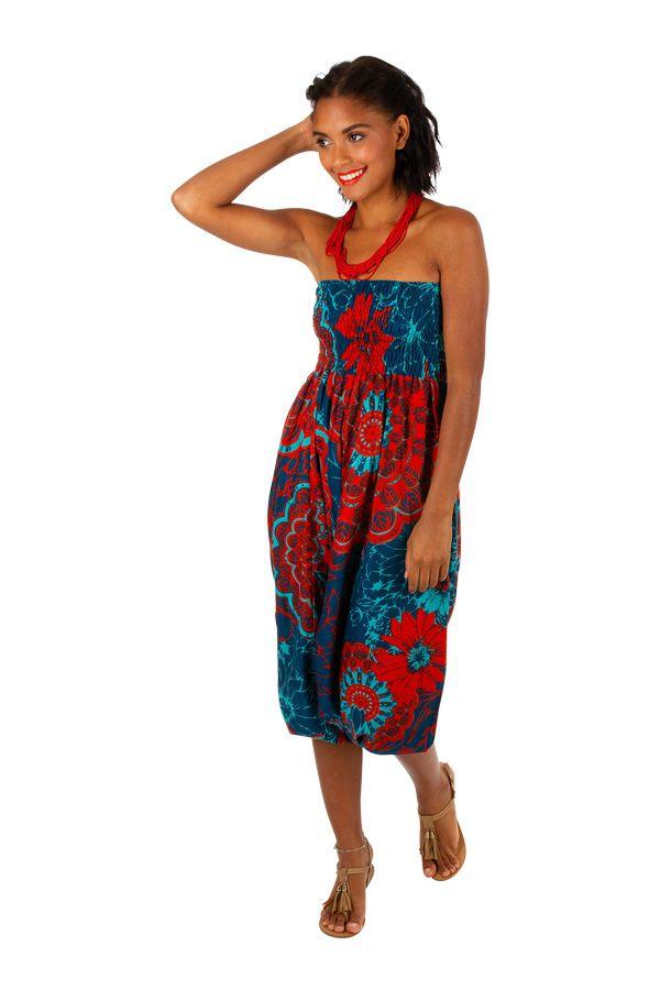 Sarouel convertible motif floral aux couleurs exotiques Fidgie 306251