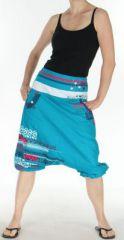 Sarouel court pour Femme Ethnique et Coloré Jessim Turquoise 275432