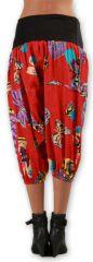 Sarouel court pour Femme Ethnique et Coloré Joddy Rouge 277119