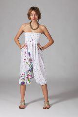 Sarouel d'été baba cool en coton transformable 3 en 1 Zara 289360
