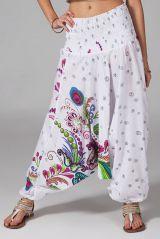 Sarouel d'été baba cool en coton transformable 3 en 1 Zara 292339