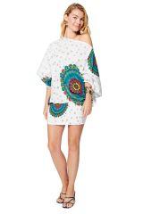 Sarouel d'été blanc en coton transformable 3en1 Sarah 325535