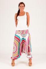 Sarouel d'été blanc vêtement multifonctions 3 en 1 Yasmina 289388