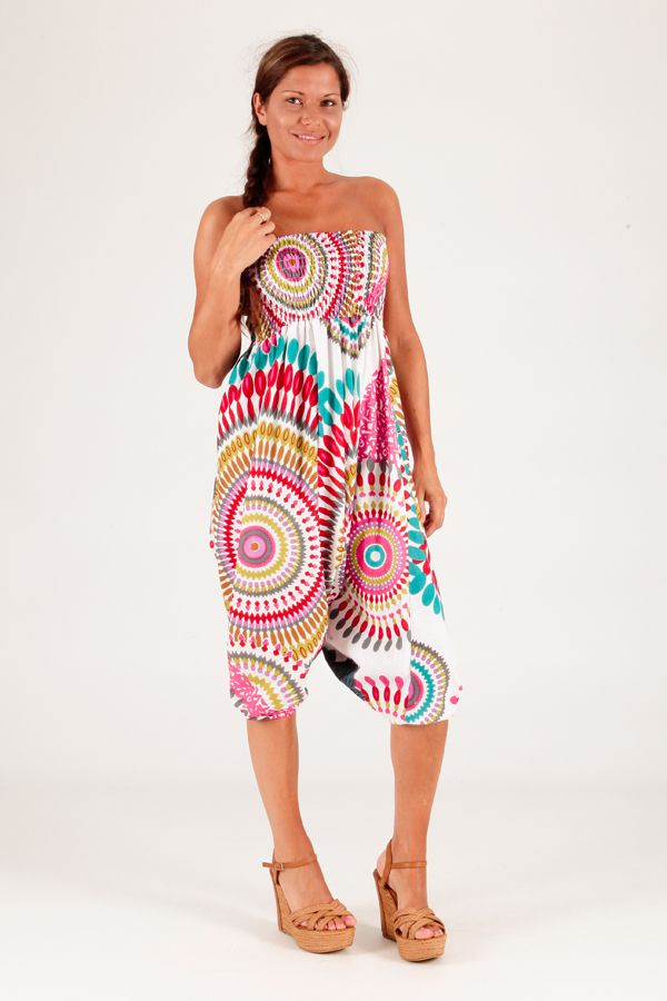 Sarouel d'été blanc vêtement multifonctions 3 en 1 Yasmina 289389
