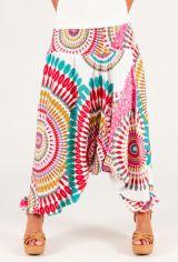 Sarouel d'été blanc vêtement multifonctions 3 en 1 Yasmina 292326