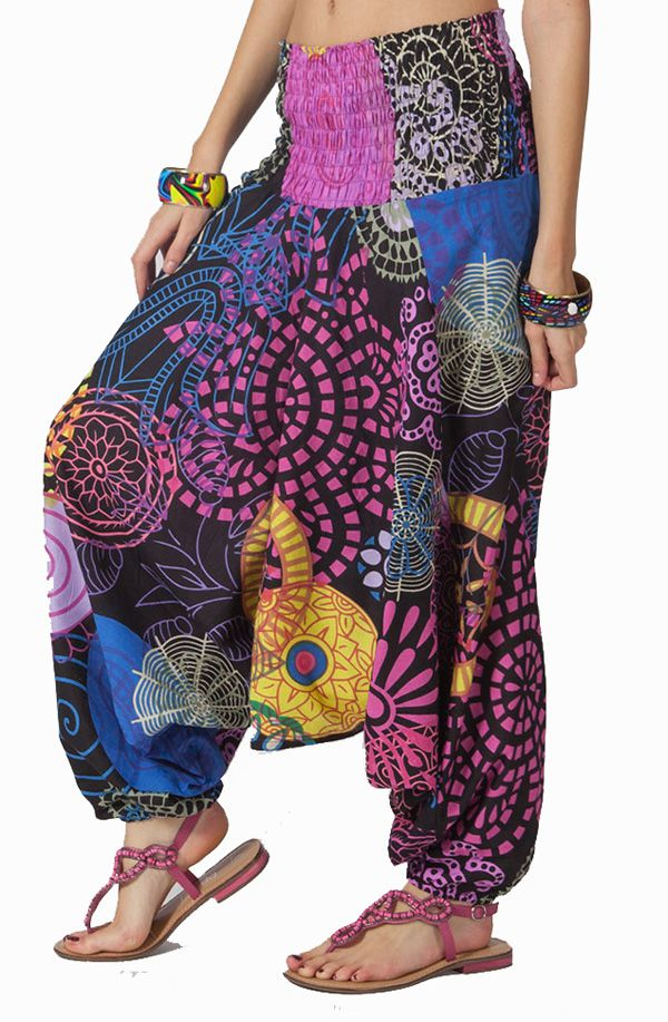 Sarouel d'été coloré en coton transformable 3 en 1 Zara 292330