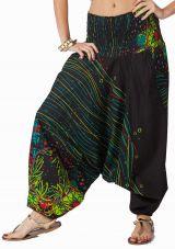 Sarouel d'été noir en coton transformable 3 en 1 Zara 292342