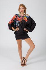 Sarouel d'été noir et imprimé en coton transformable 3 en 1 Zara 289373