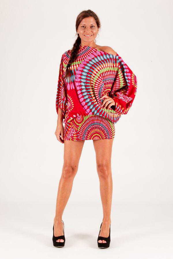 Sarouel d'été rouge vêtement multifonctions 3 en 1 Jenny 289387