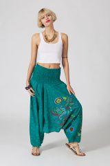 Sarouel d'été vert en coton transformable 3 en 1 Zara 289363