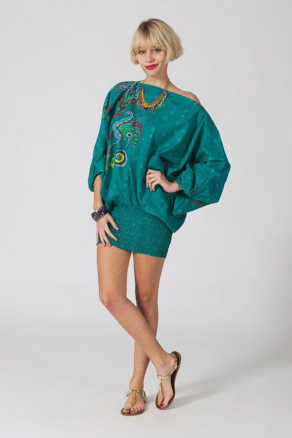 Sarouel d'été vert en coton transformable 3 en 1 Zara 289365