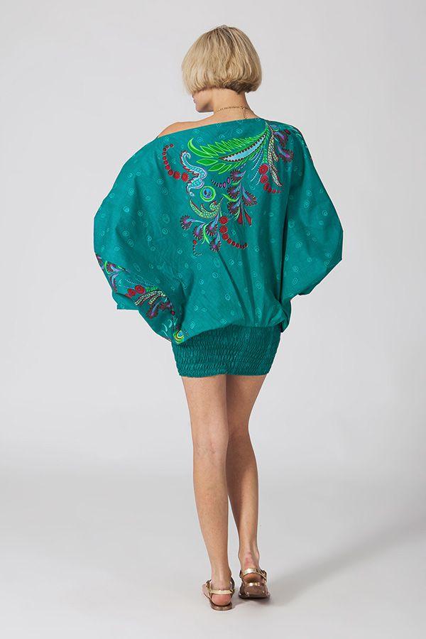 Sarouel d'été vert en coton transformable 3 en 1 Zara 289366