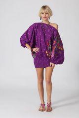 Sarouel d'été violet en coton transformable 3 en 1 Zara 289369